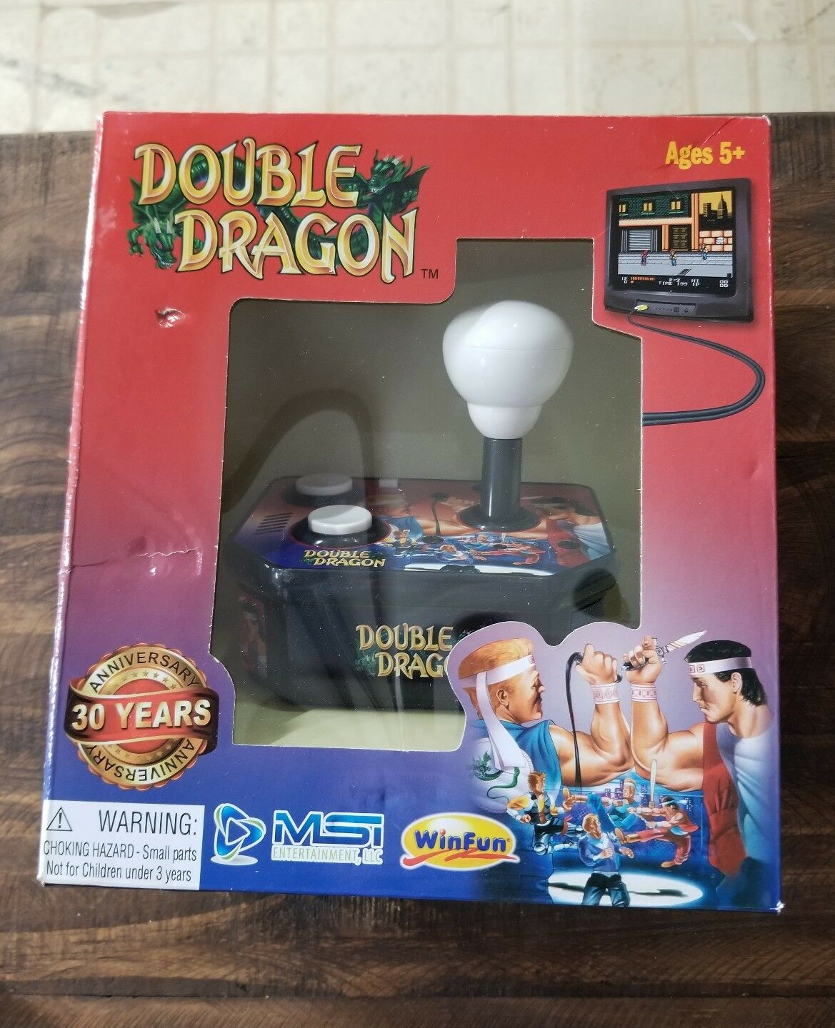 Double Dragon Plug and Play TV Arcade Video Game System 30 Year Anniversary