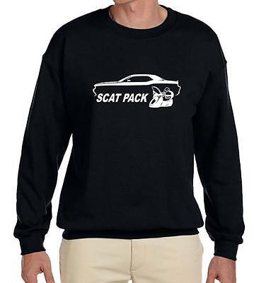 Dodge Challenger SRT Hellcat  Muscle Car Classic Outline Design Sweatshirt NEW
