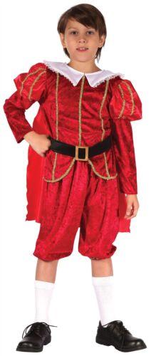 Tudor Prince Boys Childrens Fancy Dress Costume