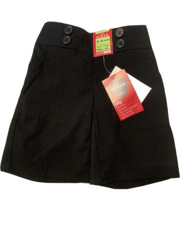 Bnwt M/&S Girls Black School City Shorts Age 3-4