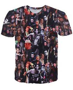 Johnny Depp Characters Face Collage T Shirt A081 Ebay