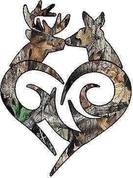"""Pink Camo Country Sweethearts Buck Doe Heart Truck Decal 5/"""" Wild Love Browning"""