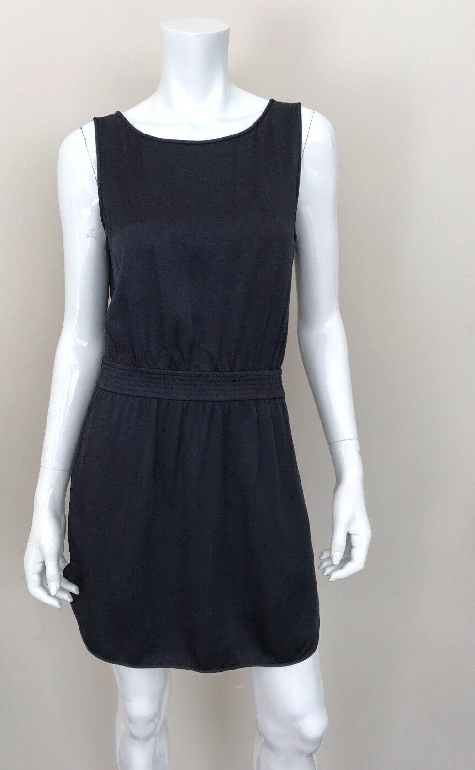 THEORY New Navy Short Dress wCinched Waist Sleeveless Größe Medium NWT