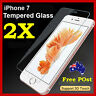 """2x Scratch Resist Tempered Glass Screen Protector Guard for Apple iPhone 7 4.7"""""""