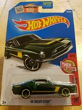 2016 HOT WHEELS HW NOW AND THEN (5/10) '68 SHELBY GT500 (GREEN) # 105/250 NIB