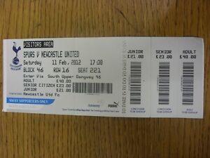11-02-2012-Ticket-Tottenham-Hotspur-v-Newcastle-United-Footy-Progs-Bobfranka