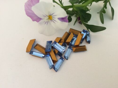 Swarovski #109 Baguette Rhinestone SAPPHIRE 5x12mm Pack of 6 REPAIR Post Free