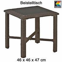 Kettler Beistelltisch 46 X 46 Cm In Mocca Geflechttisch Mit Glasplatte Tisch Neu