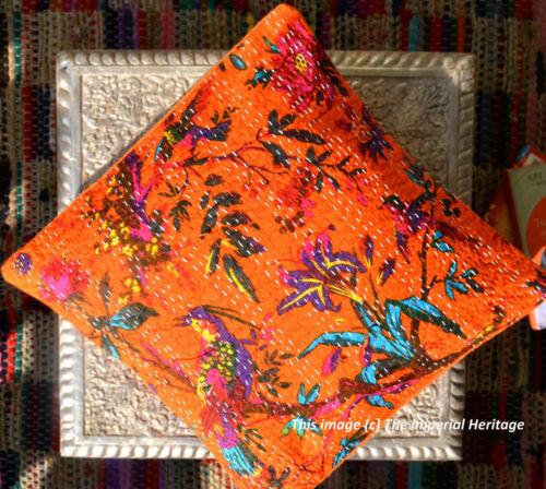 "Indian Kantha Cushion Cover Cotton Decorative Throw Pillow Case Decor Boho16/"""