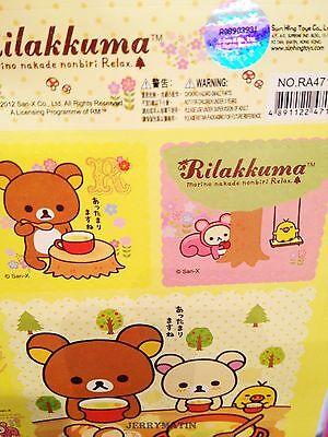 Official licensed  Rilakkuma san-x Relax Bear Sticker Sheet 1set 25 pcs Stamp