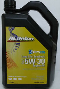 genuine holden acdelco dexos 2 5w30 synthetic oil 5lt. Black Bedroom Furniture Sets. Home Design Ideas
