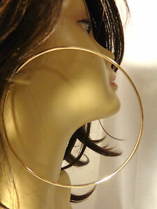 Image Is Loading Extra Large 5 Inch Hoop Earrings Simple Thin