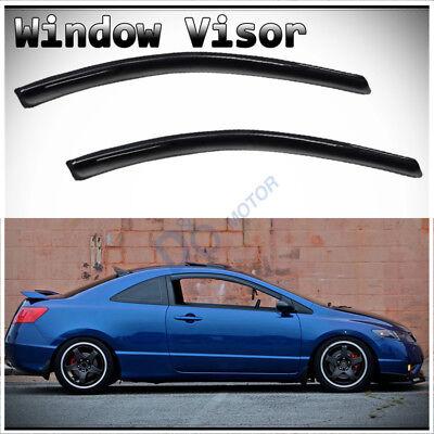 US 2X Smoke Window Sun Rain Visor Vent Guard Fit Honda Civic Coupe 2DR 2006-2011