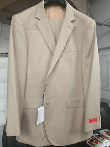 New-42R-Men-039-s-Beige-Suit-100-Wool-Super-150-Made-in-Italy-Retail-1295
