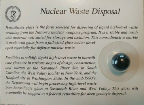 Borosilicate Nuclear Waste Disposal Marble-Mint