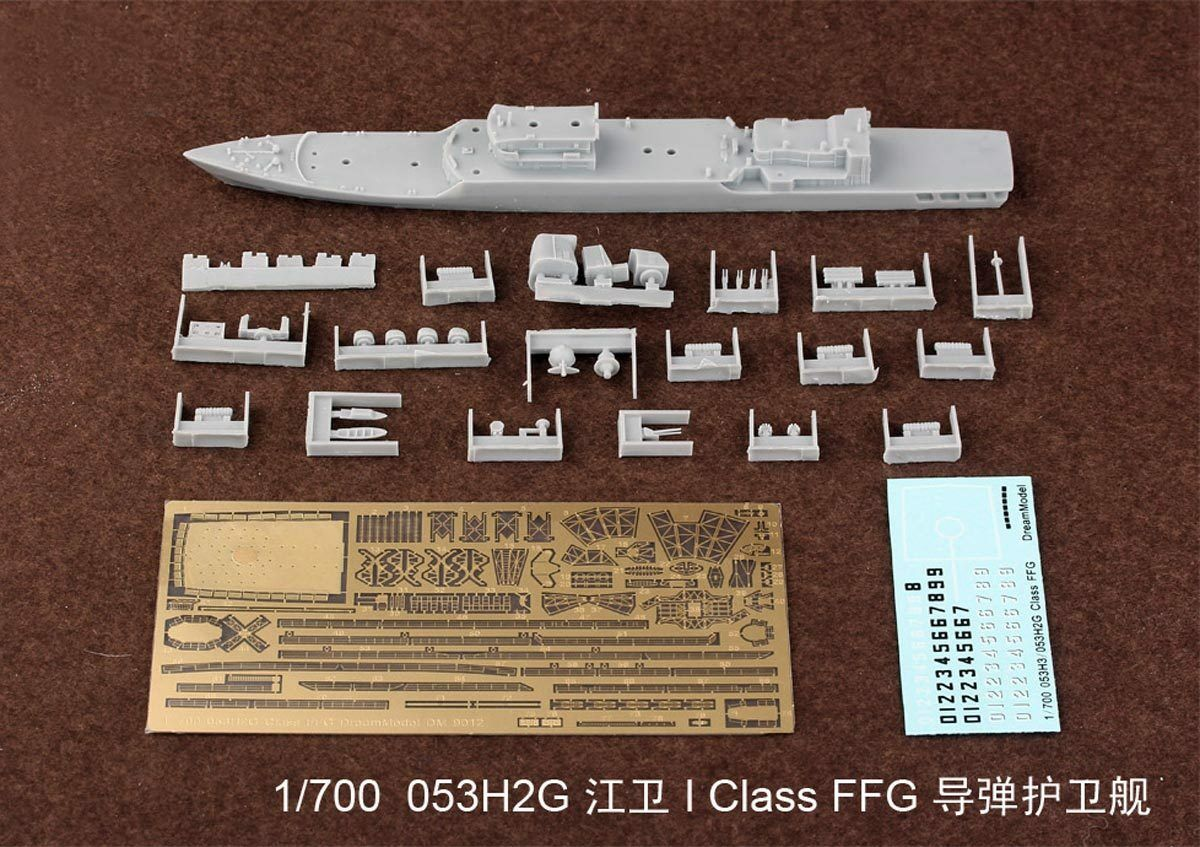1 700 053H2G Class FFG Jiang Wei-I missile frigate Model Kit Resin PE Decal