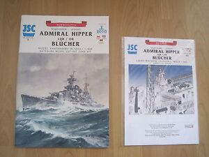 Admiral-Hipper-or-Bluecher-incl-Lasercut-Kartonbausatz-Bastelbogen-Kartonmodell