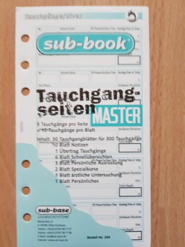 Sub book Logbuch Einlagen