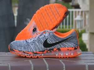 new product b538b bdc5d Image is loading Nike-Air-Max-Flyknit-Men-s-Running-Cross-