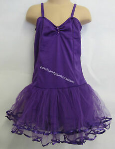Fairy Dress Ballet Tutu Dance Costume Purple 5-7 Years Polyester Stretch Leotard
