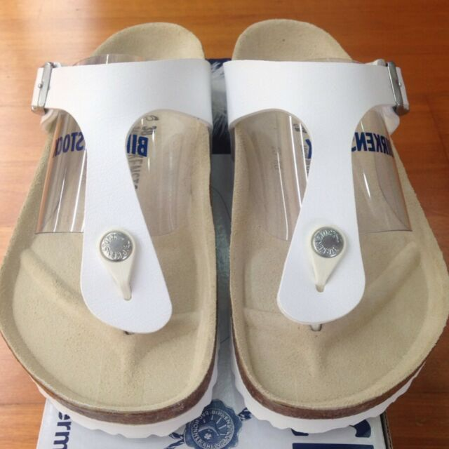 51a0c87d18f6 Birkenstock Gizeh Birko-flor Style-no. 43731 Unisex Thong Sandals White EU  41 Regular Width