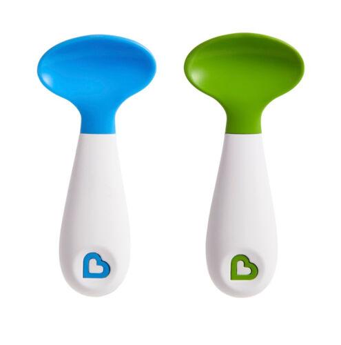 Baby Feeding Scooper Spoons Scoop Soft Tip Trening Munchkin 2Pack