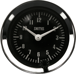 Classic Car   52 Mm black faced car clock With Chrome Rim Illuminated