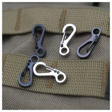 1//510X EDC Mini Metal Snap Spring Clip Hook Carabiner Outdoor Survival Tool