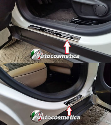 Battitacchi Batticatacco Acciaio Cromo//Satinati JEEP RENEGADE made in Italy