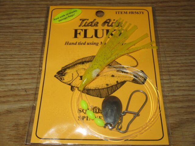 24 Fluke Rigs Flatfish TIDE RITE R558W Flet Saltwater Rig Pêche Mustad
