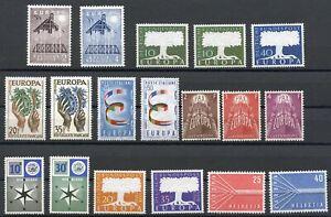 Cept-Jahrgang-1957-postfrisch-MNH-komplett-incl-Luxemburg-CE6001