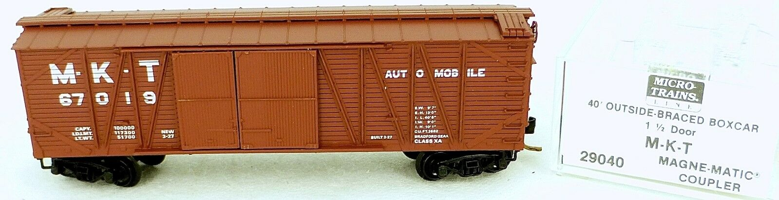 40´ outside Boxcar Missouri Kansas T 67019 Micro Trains Line 29040 N 1 160 C Å