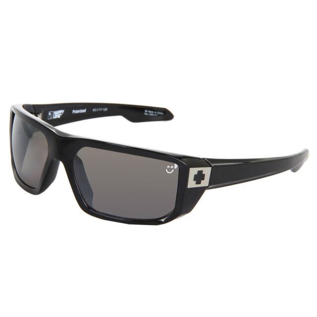 Matte Black Happy Bronze with Blue Spectra New Spy Dirk Polarized Sunglasses