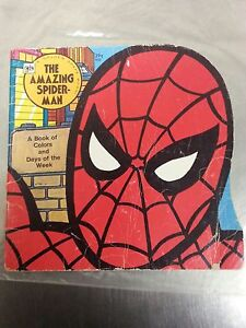 1977-Golden-Press-The-Amazing-Spider-Man-A-Book-of-Colors-and-Days-of-the-Week