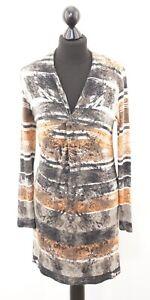 G W Kleid Jerseykleid Gr 38 Grau Gemustert Langarm Rp216 Ebay