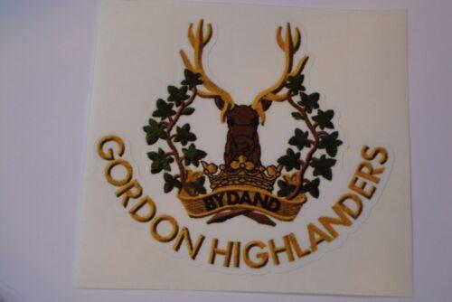 "2 X  GORDON HIGHLANDERS  REGIMENT  STICKERS  4/"" BRITISH ARMY  MILITARY INSIGNIA"