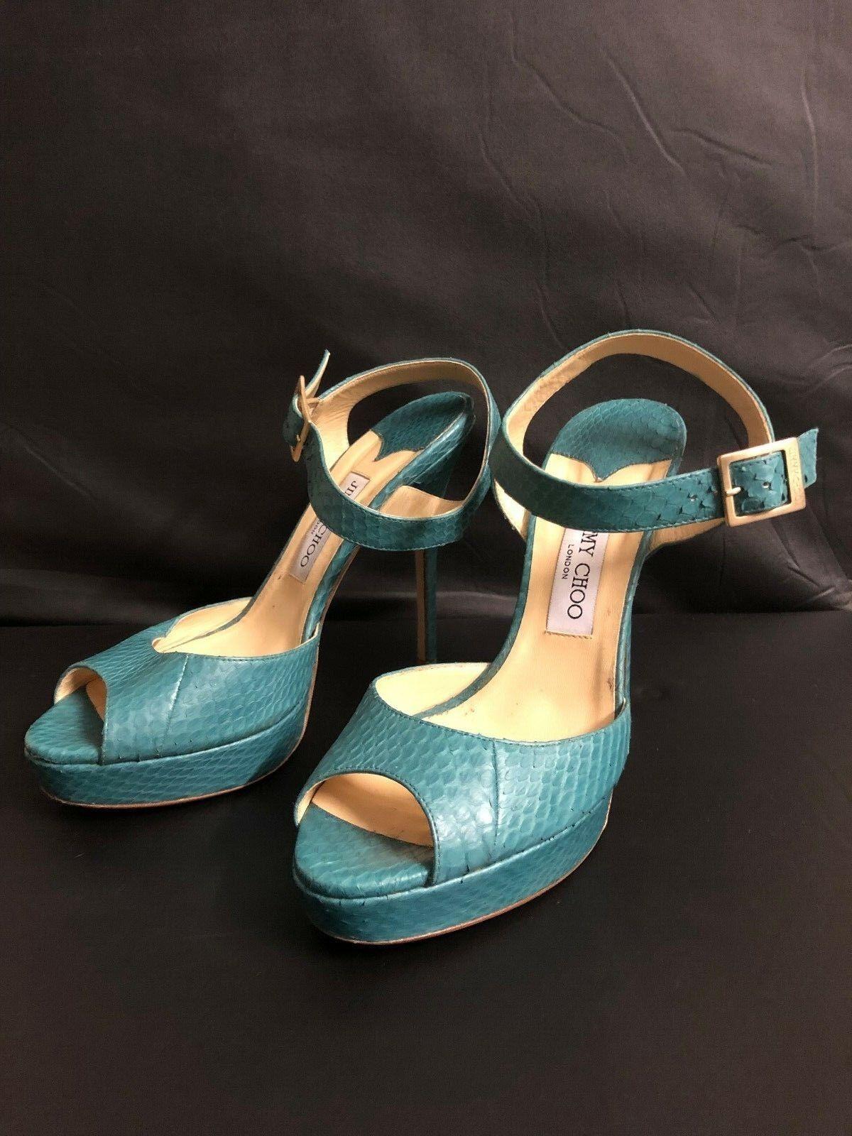 Fabuloso zapatos Jimmy Choo mujer zapatos Fabuloso talla 40-muy Casi Nuevo cc5959