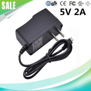 2-Pack 5V 2A Micro USB Power Supply Adapter for Security Camera Raspberry Pi and More