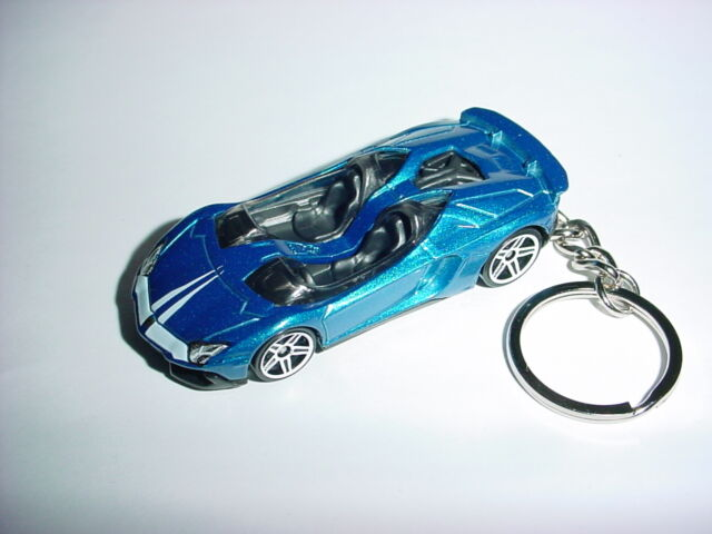 Hot 3d Lamborghini Aventador J Custom Keychain Key Chain Keyring