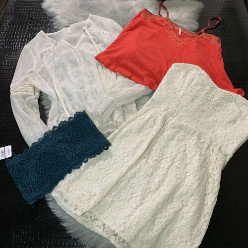 Lot Of 4 Free People Tops & Dress Intimately Free