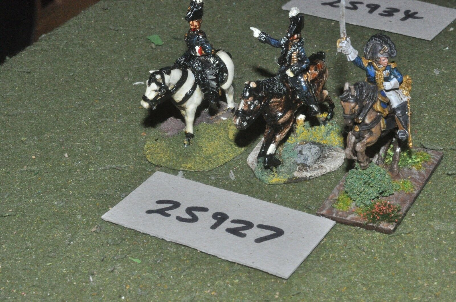 25mm napoleonic   french - 3 officers - command (25927)