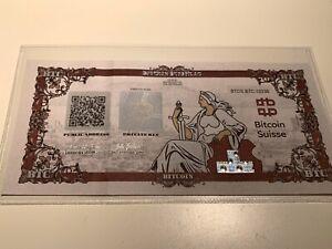 Bitcoin Suisse Certificate BTC - Wallet Like Casascius And Lealana VERY RARE