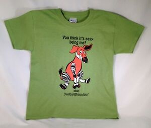 SO-CUTE-PocketFuzzies-Youth-T-shirt-w-Okapi-Image-amp-funny-saying-ON-SALE-NOW