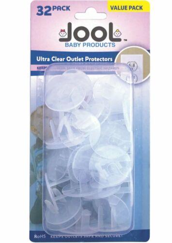 Outlet Plug Covers 32 Pack Clair Enfant Preuve électrique Protecteurs-JOOL Baby