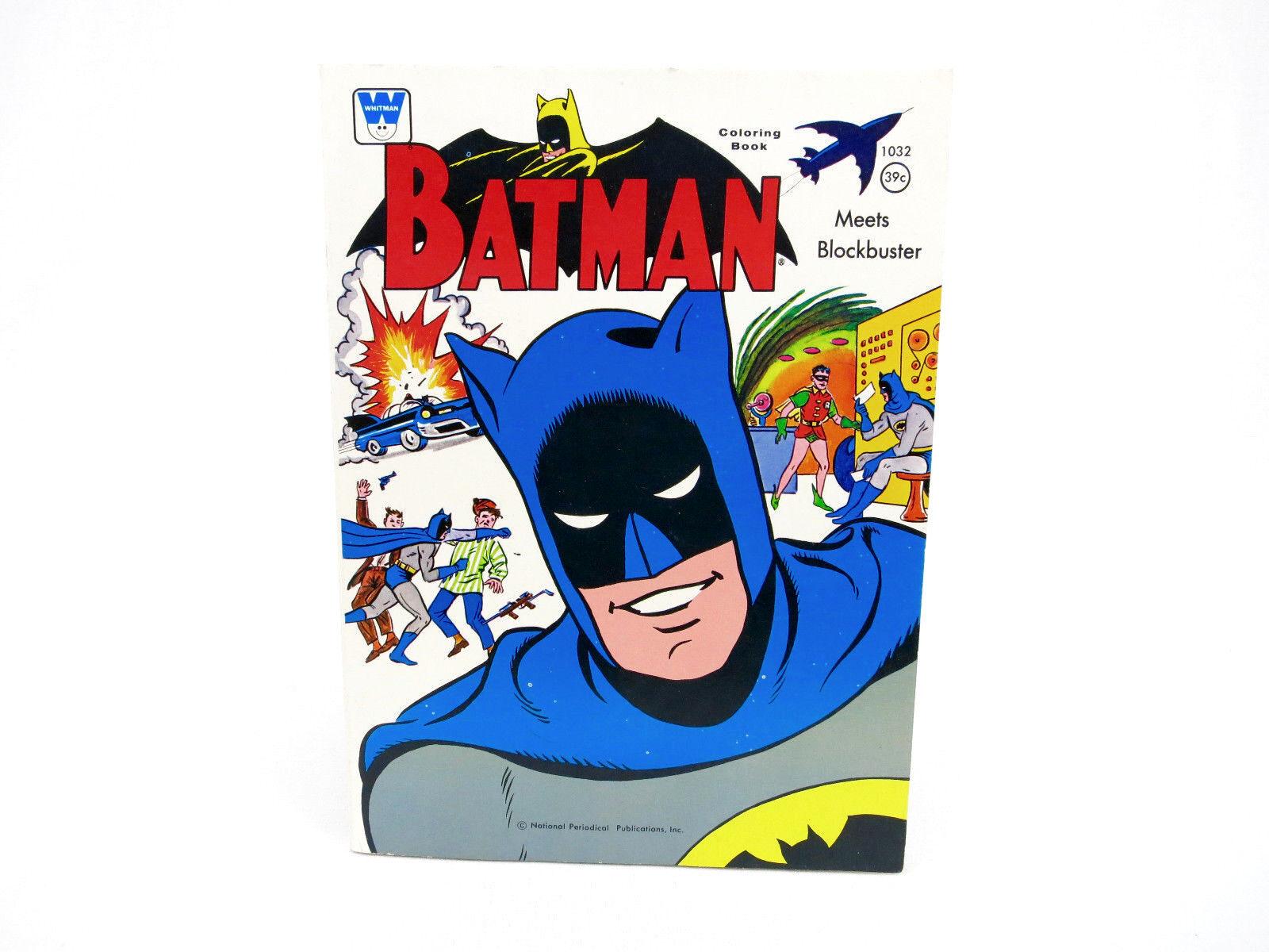 Vintage Batman & Robin coloring Comic Book No. 1032 Batmobile Toy Whitman NICE