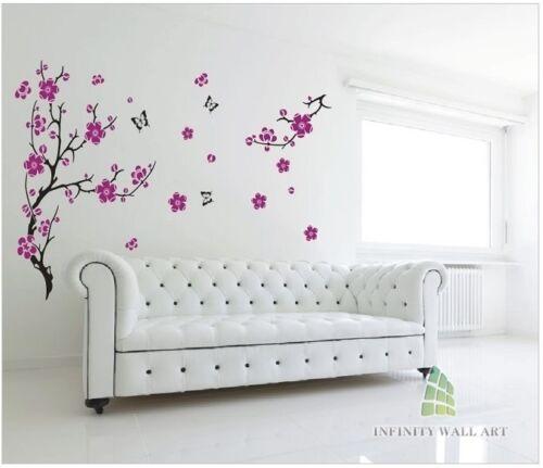 Flor Del Ciruelo árbol pegatinas de pared Vinilo Arte Wall Decals calcomanías de pared - pd163