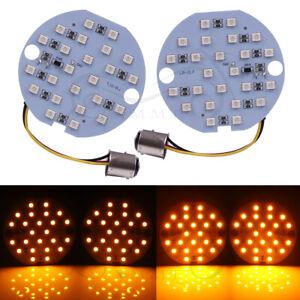 Turn Signal 1157 SMD LED Amber White Light Blinker Indicator for Harley Touring