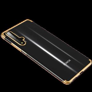 Coque Housse Pour Huawei Mate 20 Etui TPU Antichoc Transparent Contour Doré