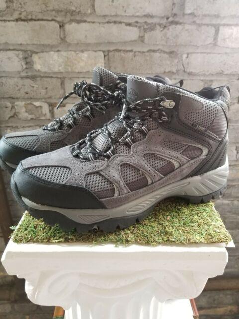 Khombu Men's Tyler Gray Black Work Boots Leather Hiking Waterproof - Pick Size