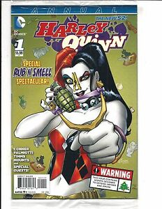 HARLEY-QUINN-ANNUAL-1-DC-Comics-SEALED-with-RUB-amp-SMELL-DEC-2014-NEW-NM